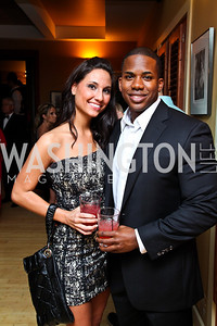 Sarah Martin, Chadleon Booker. Photo by Tony Powell. WL WHC After Party. Grey Goose Mansion. April 30, 2011