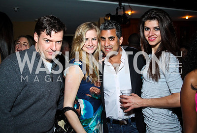 Chris Moritz, Kristen Topping, Jay Varma, Leyla Kavandi. Photo by Tony Powell. WL WHC After Party. Grey Goose Mansion. April 30, 2011