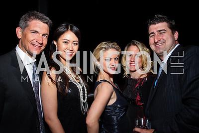 Steve Senkus, Serena Lin, Jessica Haese, Shari Keith, Garrett O'Shea. Photo by Tony Powell. WL WHC After Party. Grey Goose Mansion. April 30, 2011