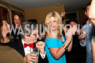 Tony Capaccio, Allison Priebe Brooks. Photo by Tony Powell. WL WHC After Party. Grey Goose Mansion. April 30, 2011