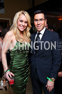 Britt McHenry, Will Thomas. Photo by Tony Powell. WL WHC After Party. Grey Goose Mansion. April 30, 2011