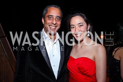 David Mercer, Tina Jeon. Photo by Tony Powell. WL WHC After Party. Grey Goose Mansion. April 30, 2011