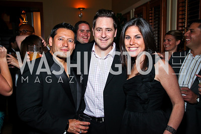 Ernie Arias, Matt Eisman, Renee Sharrow. Photo by Tony Powell. WL WHC After Party. Grey Goose Mansion. April 30, 2011