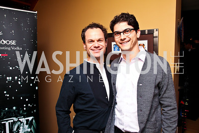 James Alefantis, Paul Farber. Photo by Tony Powell. WL WHC After Party. Grey Goose Mansion. April 30, 2011