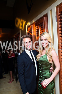 Philip Stewart, Britt McHenry. Photo by Tony Powell. WL WHC After Party. Grey Goose Mansion. April 30, 2011