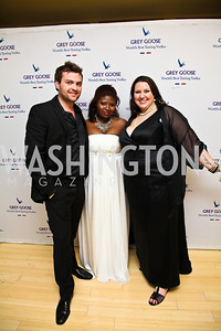 Seth McClelland, Makeda Saggau-Sackey, Misti Schindele. Photo by Tony Powell. WL WHC After Party. Grey Goose Mansion. April 30, 2011