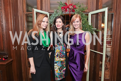 Amanda Polk, Nina Snow, Amy Dorcy. Washington Life and National Museum for Catholic Art's Holiday 2012 Celebration. Georgetown Victorian Christmas House. December 15, 2011. Photo by Alfredo Flores