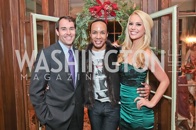 Scott Thuman, Paul Wharton, Britt McHenry. Washington Life and National Museum for Catholic Art's Holiday 2012 Celebration. Georgetown Victorian Christmas House. December 15, 2011. Photo by Alfredo Flores