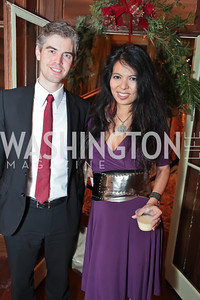 Daniel Monson, Christina Sevilla. Washington Life and National Museum for Catholic Art's Holiday 2012 Celebration. Georgetown Victorian Christmas House. December 15, 2011. Photo by Alfredo Flores