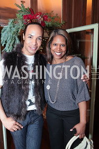 Paul Wharton, Nyree Wright. Washington Life and National Museum for Catholic Art's Holiday 2012 Celebration. Georgetown Victorian Christmas House. December 15, 2011. Photo by Alfredo Flores