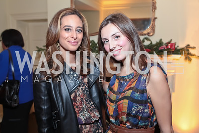 Erika Paola Gutierrez, Tatiana Pastukhova. Washington Life and National Museum for Catholic Art's Holiday 2012 Celebration. Georgetown Victorian Christmas House. December 15, 2011. Photo by Alfredo Flores