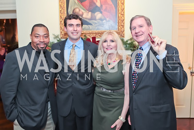 Ed Williams, Dan Gaddy, Christina Cox, James Connelly. Washington Life and National Museum for Catholic Art's Holiday 2012 Celebration. Georgetown Victorian Christmas House. December 15, 2011. Photo by Alfredo Flores