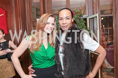 Amanda Polk, Paul Wharton. Washington Life and National Museum for Catholic Art's Holiday 2012 Celebration. Georgetown Victorian Christmas House. December 15, 2011. Photo by Alfredo Flores