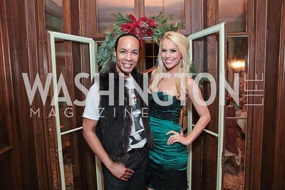 Paul Wharton, Britt McHenry. Washington Life and National Museum for Catholic Art's Holiday 2012 Celebration. Georgetown Victorian Christmas House. December 15, 2011. Photo by Alfredo Flores