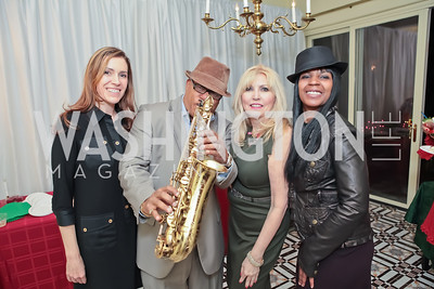 Dawn Marie Jones, Ski Johnson, Christina Cox, Sherrie Flack. Washington Life and National Museum for Catholic Art's Holiday 2012 Celebration. Georgetown Victorian Christmas House. December 15, 2011. Photo by Alfredo Flores