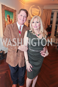Bill O'Reilly, Christina Cox. Washington Life and National Museum for Catholic Art's Holiday 2012 Celebration. Georgetown Victorian Christmas House. December 15, 2011.JPG