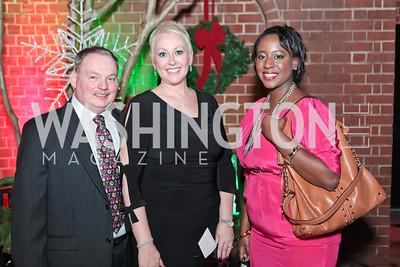 Richard Vlasak, Ellen Vlasak, Sharlia Lee. Washington Life and National Museum for Catholic Art's Holiday 2012 Celebration. Georgetown Victorian Christmas House. December 15, 2011.JPG