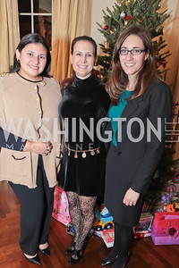 Cheryl Romero, Susan Ostrowski, Wendy Whitcomb. Washington Life and National Museum for Catholic Art's Holiday 2012 Celebration. Georgetown Victorian Christmas House. December 15, 2011. Photo by Alfredo Flores