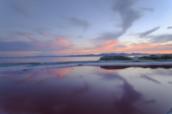 Small Red Pool by Great Salt Lake