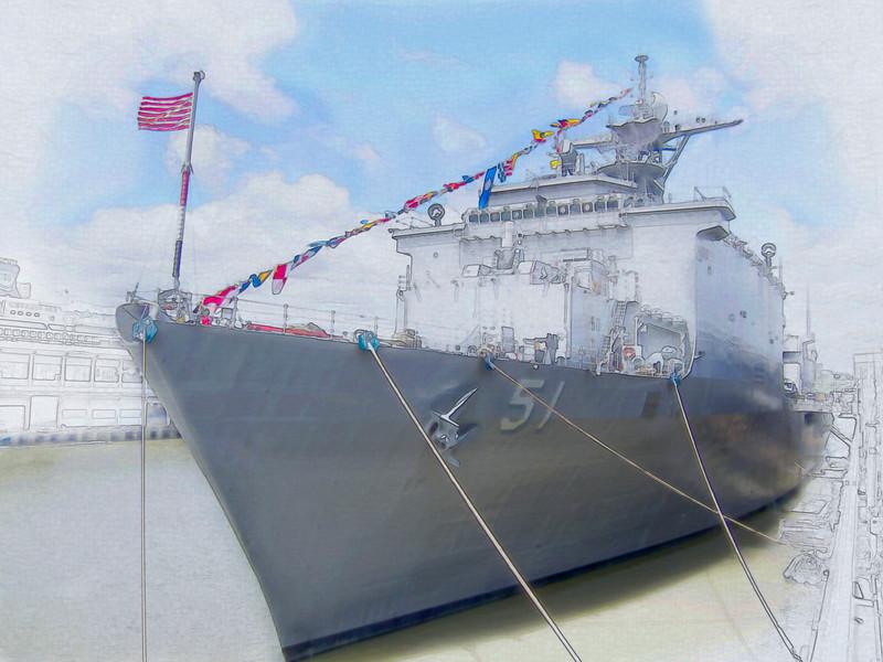 USS Oak Hill, dock landing ship.  Fleet Week 2015
