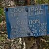 Trail junction in col below West Tumbledown.