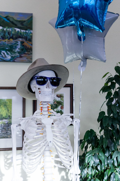 Tibby McDowell   The Sheridan Press Indiana Bones greeted attendees during the Business Before Hours event at Teton Therapy Wednesday, April 4, 2018.