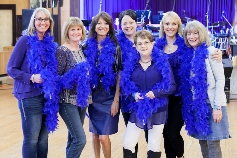 Tibby McDowell | The Sheridan Press Organizers from left, Renea Parker, Mary Kay Liggett, Dana Townsend (Dana's Hope co-founder and cancer survivor), Stacy Roxman, Connie Goodwin, Amy LeDoux (Dana's Hope co-founder), and Joanne Garnet prior to the Dana's Hope 5th Annual Bottoms Up Bash at the Elks Lodge Friday, April 6, 2018.