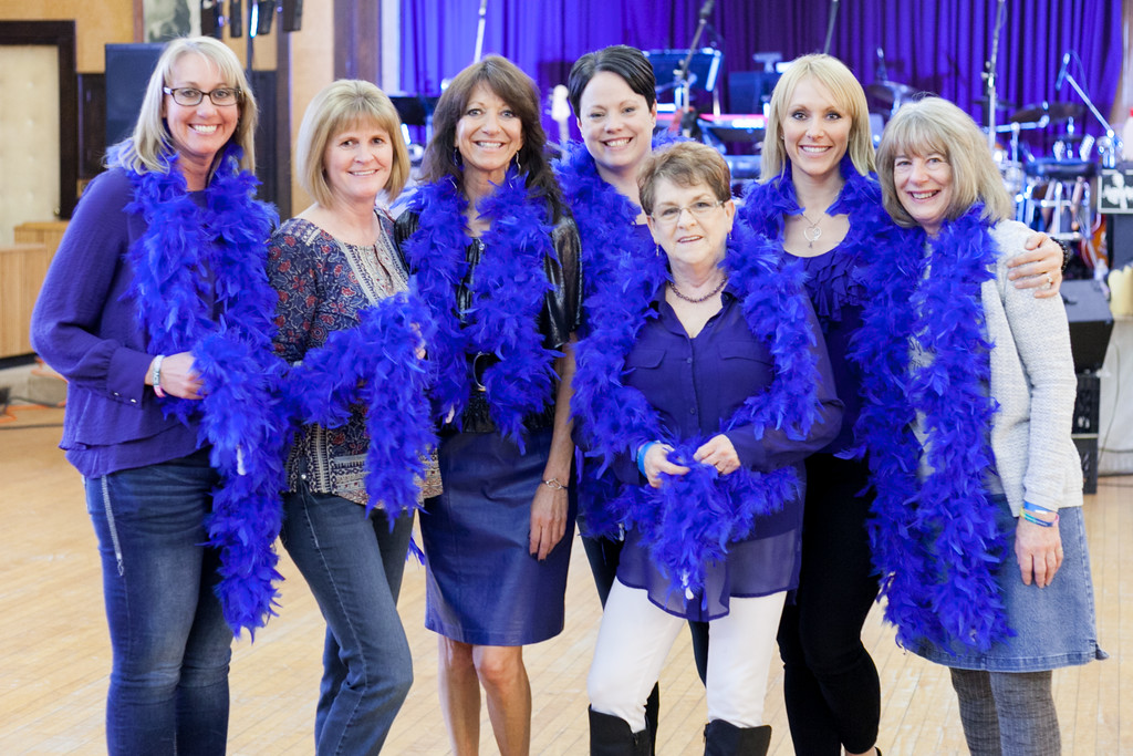 Tibby McDowell   The Sheridan Press Organizers from left, Renea Parker, Mary Kay Liggett, Dana Townsend (Dana's Hope co-founder and cancer survivor), Stacy Roxman, Connie Goodwin, Amy LeDoux (Dana's Hope co-founder), and Joanne Garnet prior to the Dana's Hope 5th Annual Bottoms Up Bash at the Elks Lodge Friday, April 6, 2018.