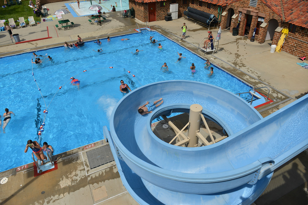 Justin Sheely | The Sheridan Press<br /> Children play at Kendrick Pool Thursday, June 7, 2018. Kendrick Pool open swim is daily from 1 p.m. to 7 p.m. Children 2 years and under are free.