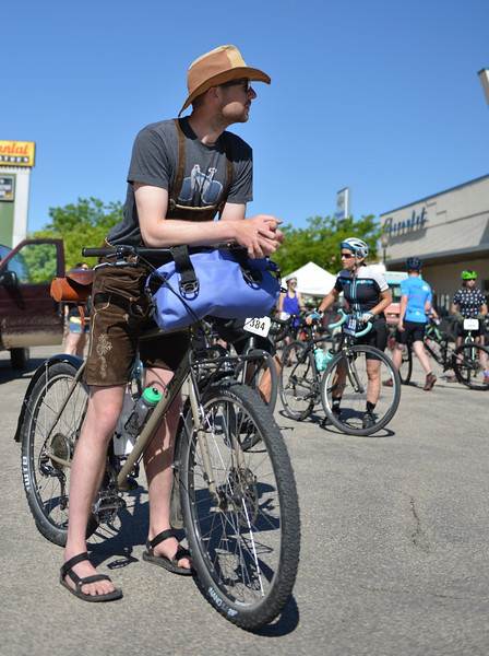 Justin Sheely | The Sheridan Press<br /> David Klug waits for the race to begin during the Dead Swede Hundo bike race at Black Tooth Brewing Company Saturday, June 2, 2018. The race features a 100-mile loop that takes bicyclists into the Bighorn National Forest via Red Grade road.
