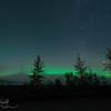 The beginning of the show - Aurora Borealis, Fairbanks AK
