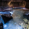 Nature's Bath Tub - After the adventurous hike, Subway, Zion NP, UT