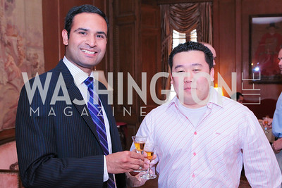 Kishore Thota, Tommy Choi. Photo by Alfredo Flores. Whiskies of the World Premium to Luxury. The Washington Club. June 21, 2011