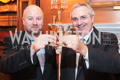 Ewan A. Morgan, Yann Henrotte. Photo by Alfredo Flores. Whiskies of the World Premium to Luxury. The Washington Club. June 21, 2011