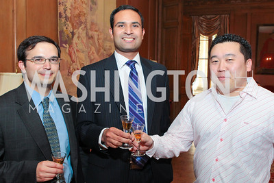 Chris Amesquita, Kishore Thota, Tommy Choi. Photo by Alfredo Flores. Whiskies of the World Premium to Luxury. The Washington Club. June 21, 2011