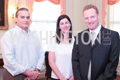 Robert Doyle Jr., Sarah Maloney, Michael Britton. Photo by Alfredo Flores. Whiskies of the World Premium to Luxury. The Washington Club. June 21, 2011
