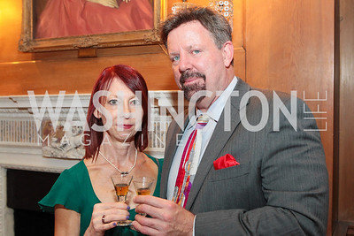 Jennifer Woodward, Russ Wolff. Photo by Alfredo Flores. Whiskies of the World Premium to Luxury. The Washington Club. June 21, 2011