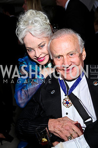 Lois and Buzz Aldrin. WHCD Pre Parties. Photo © Tony Powell. April 30, 2011