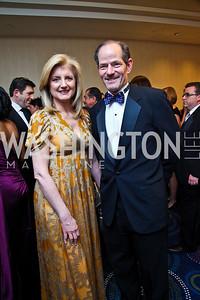 Arianna Huffington, Eliot Spitzer. WHCD Pre Parties. Photo © Tony Powell. April 30, 2011