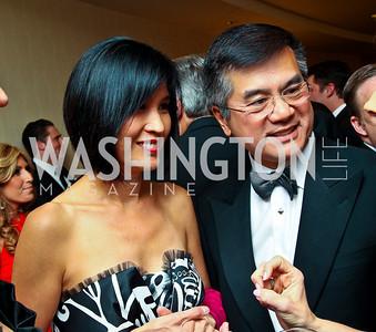 Mona Locke and Secretary of Commerce Gary Locke. WHCD Pre Parties. Photo © Tony Powell. April 30, 2011