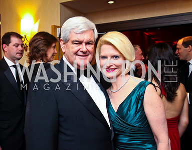 Newt and Callista Gingrich. WHCD Pre Parties. Photo © Tony Powell. April 30, 2011