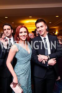 Scarlett and Hunter Johansson. WHCD Pre Parties. Photo © Tony Powell. April 30, 2011