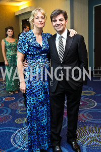 Alexandra Wentworth and George Stephanopoulos. WHCD Pre Parties. Photo © Tony Powell. April 30, 2011