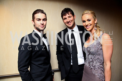 Chase Crawford, Tony Romo, Candace Crawford. WHCD Pre Parties. Photo © Tony Powell. April 30, 2011