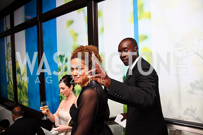 Actors Bridgid Coulter and Don Cheadle. WHCD Pre Parties. Photo © Tony Powell. April 30, 2011
