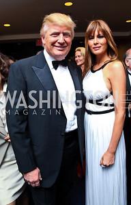 Donald Trump and Melania Knauss-Trump. WHCD Pre Parties. Photo © Tony Powell. April 30, 2011