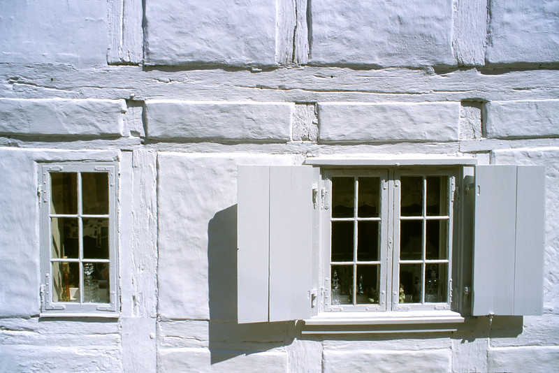 White windows in Helsingor, Denmark