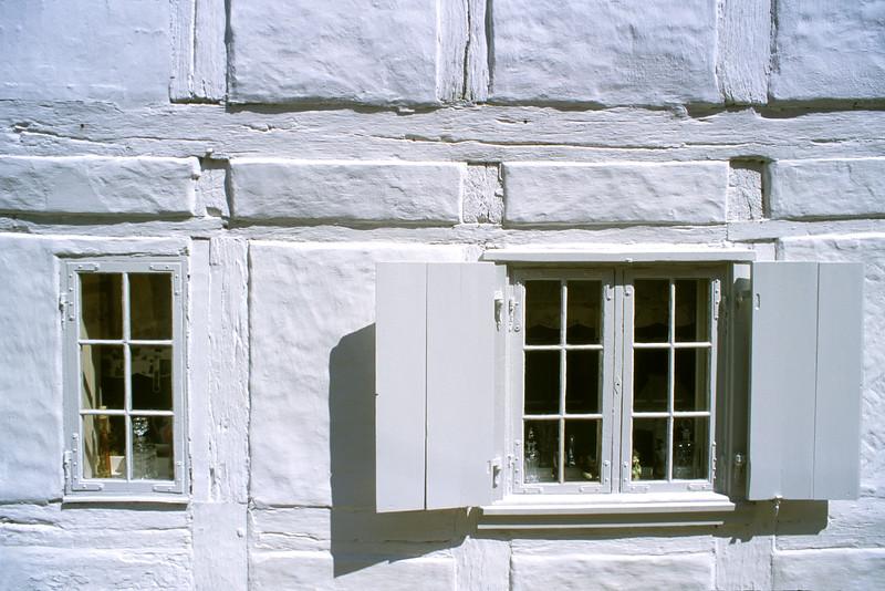 White windows in Helsingor, Denmark