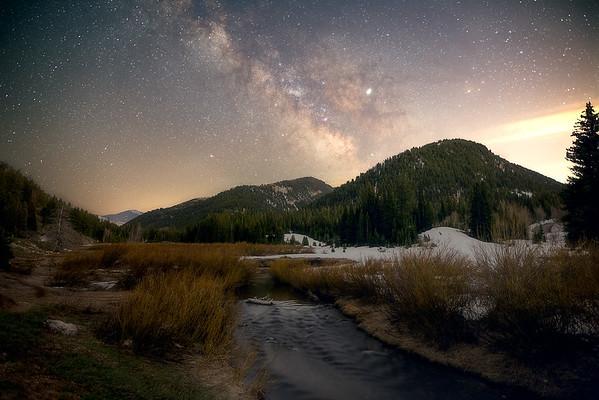 Big Cottonwood Canyon at Night