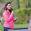 Ashleigh Fox | The Sheridan Press<br> Christine Dieterich, the executive director of Habitat for Humanity of the Eastern Bighorns, gives directions ahead of the Wolf Creek Wrangle at Eaton's Ranch Saturday, Sept. 15, 2018. Proceeds from the race went toward Habitat for Humanity home construction in Sheridan.